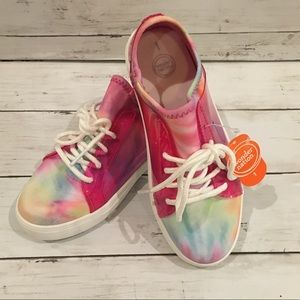 NWT- Rainbow Color Girls Tennis Shoes